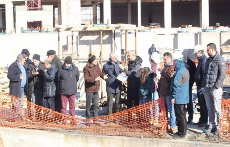 Bursa'da hastane inşaatlarında