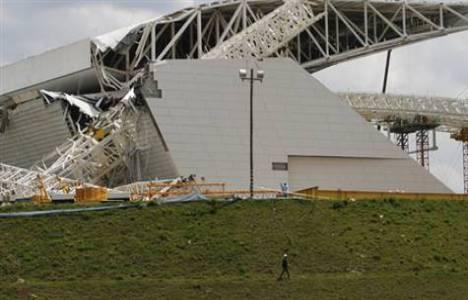 Brezilya'da dünya kupası için inşa edilen statlardaki iş kazaları yüzünden eylem yapıldı!