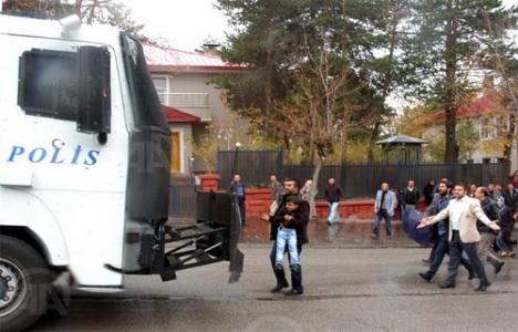 Erzurum'da 'ruhsat iptali' protestosu!