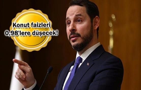 Berat Albayrak: Konut faizlerinde düşüş devam ediyor!
