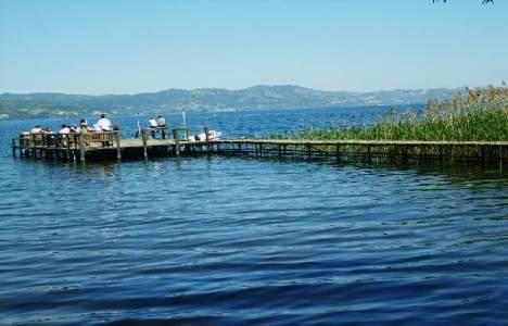Sapanca Gölü'ndeki su seviyesi düştü!
