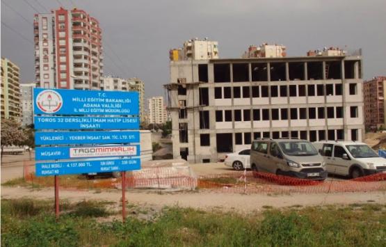 Adana'da 21 yeni okul inşa edilecek!