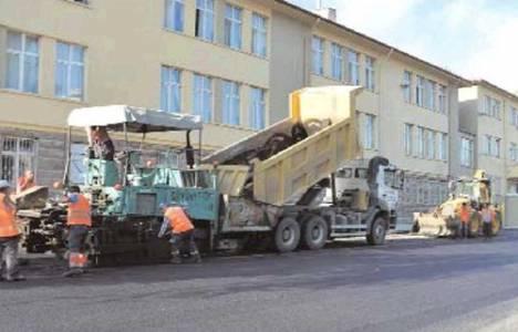 Ankara'da 49 okulun bahçesine asfalt çalışması yapılıyor!