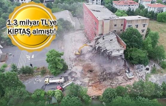 Etiler Polis Meslek Yüksek Okulu'nda yıkım başladı!