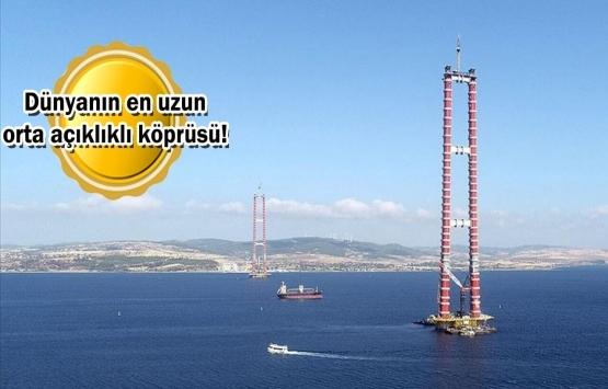 1915 Çanakkale Köprüsü'nün inşaatında çalışmalar tam gaz!