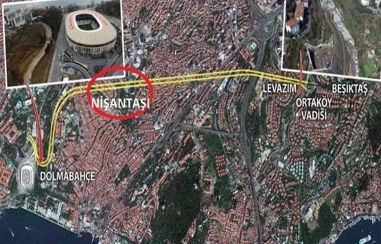 Dolmabahçe-Levazım tüneli binaları