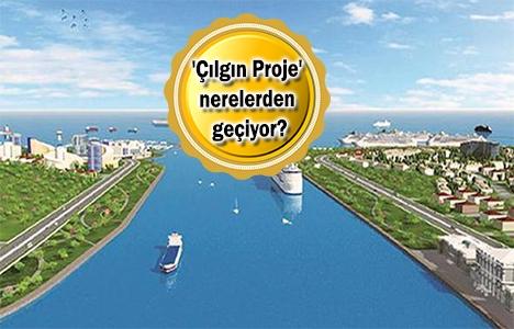 Kanal İstanbul'un güzergahı