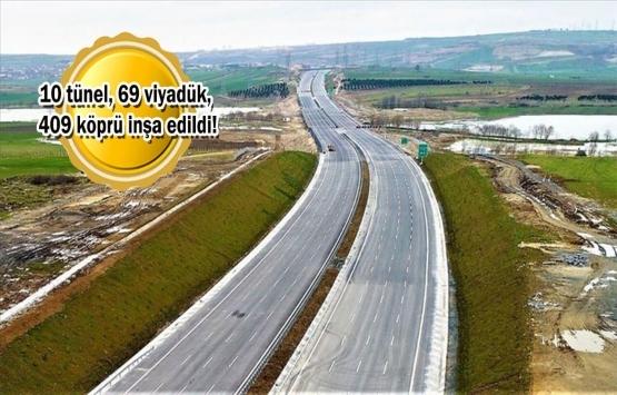 Kuzey Marmara Otoyolu'nun son kesimi açılış için gün sayıyor!
