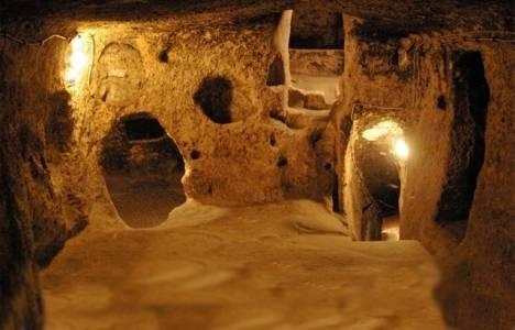 Nevşehir'deki yeraltı şehrinde