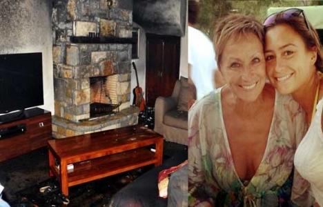 Sörfçü Lena Aylin Erdil'in villasında yangın çıktı!