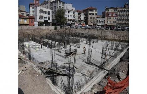 Kırklareli'de otopark inşaatı