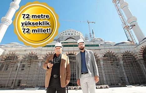 Çamlıca Camii'nin inşaatında