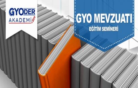 GYODER Akademi GYO mevzuatı eğitim semineri 31 Mart'ta!
