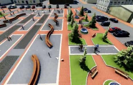 Erbaa Cumhuriyet Meydanı'nda kent yenileme çalışmaları başladı!