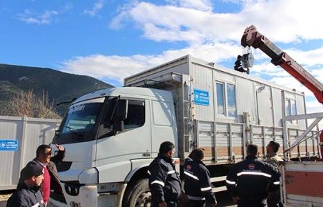 Antalya Büyükşehir'den Şükrü Erol'a konteyner ev!
