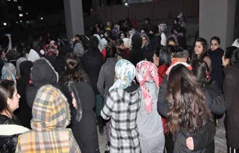 Bingöl'de kaloriferleri yanmayan kız yurdu öğrencileri eylem yaptı!