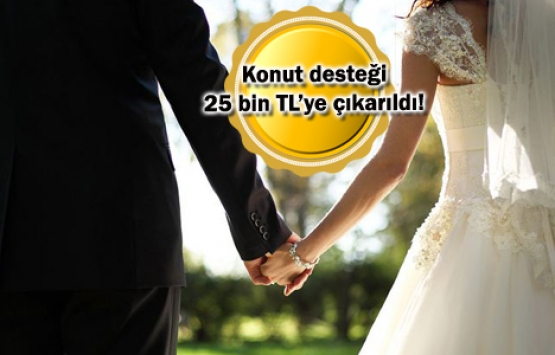 Evleneceklere devletten 65