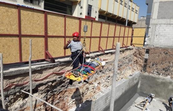 Gaziantep'te kazı alanı inşaatında kaza!