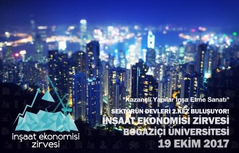 2. İnşaat Ekonomisi Zirvesi 19 Ekim'de Boğaziçi'nde!