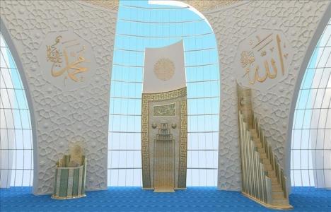 DİTİB'in Köln'de yaptırdığı caminin iç yapısı tamamlandı!