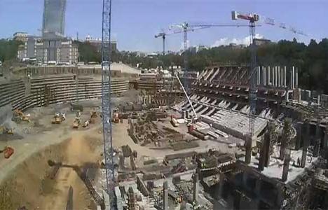 Beşiktaş Spor Kulübü'nün stadının inşaatı devam ediyor!