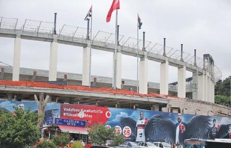 Vodafone Arena'nın inşaatına