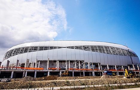 Samsunspor'un yeni stadyumunda sona doğru!