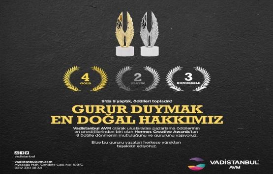 Vadistanbul AVM HERMES'ten 9 ödülle döndü!