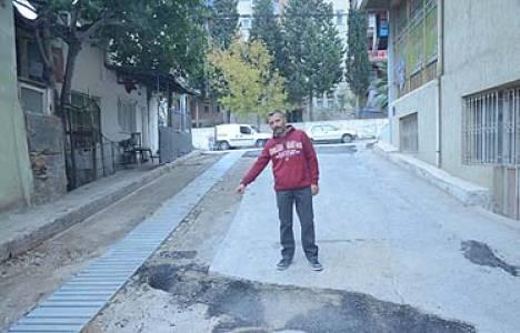 Gaziemir'de yol yapım çalışmaları devam ediyor!