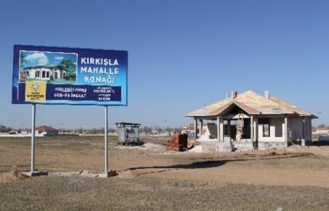 Konya Cihanbeyli'de mahalle konakları inşa ediliyor!