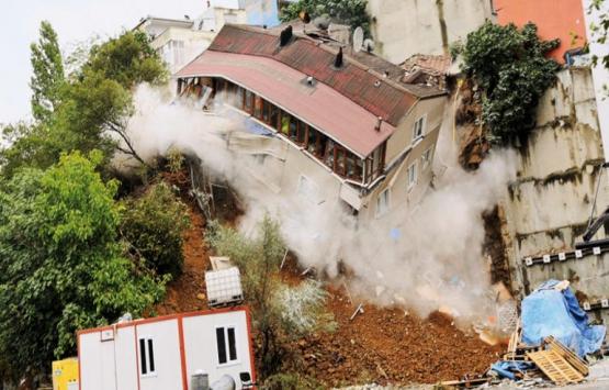 Sütlüce'de yıkılan bina