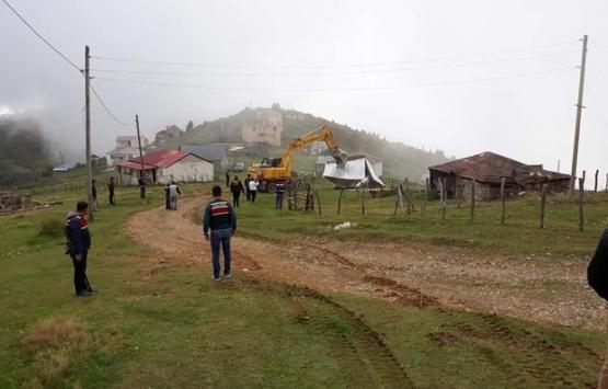 Trabzon Sis Dağı Yaylası'nda yıkımlar devam ediyor!