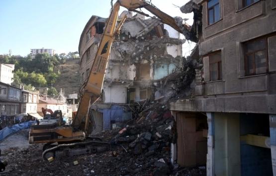 Bitlis Dere Üstü Islah Projesi için yıkım başladı!