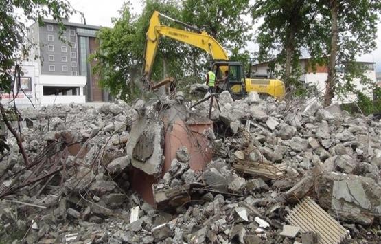 Adıyaman Halk Kütüphanesi'nin yıkımı tamam!