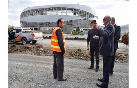 Samsun 19 Mayıs Stadyumu'nda inşaat sürüyor!