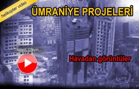 Ümraniye'de hayata geçirilen projelerin havadan görüntüleri!
