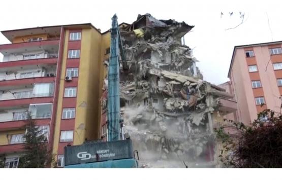 Elazığ Karşıyaka'da 331 konutun yıkım çalışmaları başladı!