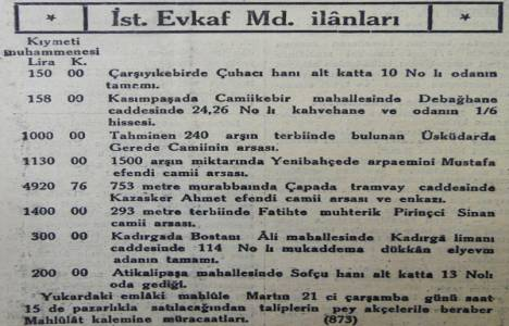 1934 yılında İstanbul'un merkez ilçelerinde satılık arsalar!