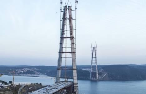 3. Köprü'de çelik tabliye montajlarının yarısı tamamlandı!