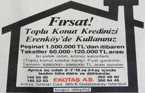 1984 yılında Erenköy'de