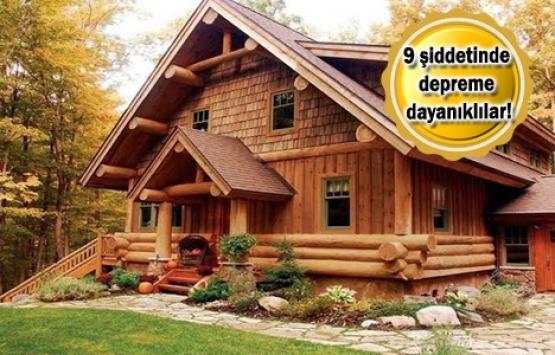 En eski yeni ev çözümü: Kütük evler!