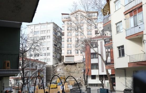 Çankaya'da çökme riski olan binanın yıkım çalışmaları başladı!