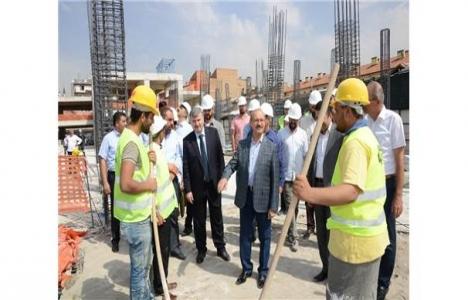 Konya Tarihi Osmanlı Buğday Pazarı inşaatında inceleme!