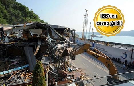 İstanbul Boğazı'nda yıkım