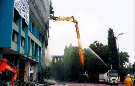 Aksaray'daki İSKİ binası yıkılarak park yapılacak!