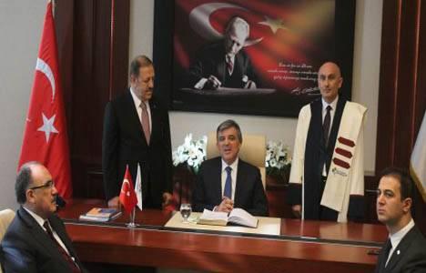 Cumhurbaşkanı Gül'den üniversite