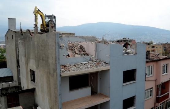 Bursa Soğanlı Kentsel Dönüşüm Projesi için 68 bina yıkıldı!