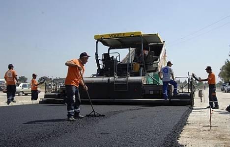 Burdur Yeni Sanayi Yolu'nda asfalt çalışması yapılıyor!