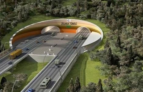 Zigana Tüneli'nin yapımına