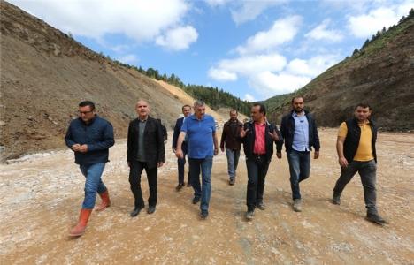 Sakarya Akçay Barajı'nın gövdesi yükseliyor!